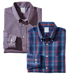 MIX & MATCH BROOKS LONG-SLEEVE CASUAL SHIRTS BROOKS BROTHERS