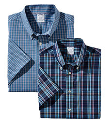 MIX & MATCH BROOKS SHORT-SLEEVE CASUAL SHIRTS BROOKS BROTHERS