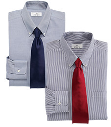 MIX & MATCH LONG-SLEEVE DRESS SHIRTS ENRO $80