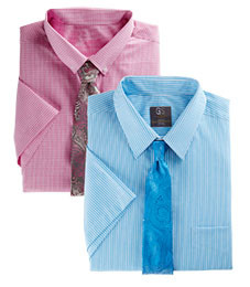 MIX & MATCH SHORT-SLEEVE DRESS SHIRTS