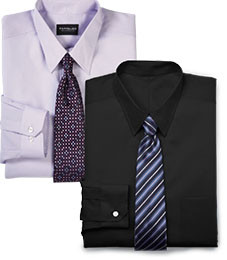 MIX & MATCH LONG-SLEEVE DRESS SHIRTS TRAVELER TECHNOLOGY