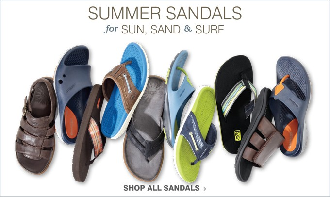 SUMMER SANDALS | FOR SUN, SAND & SURF