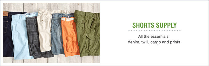 SHORTS SUPPLY | All the essentials: denim, twill, cargo and prints
