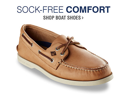 SOCK-FREE COMFORT | SHOP BOAT SHOES