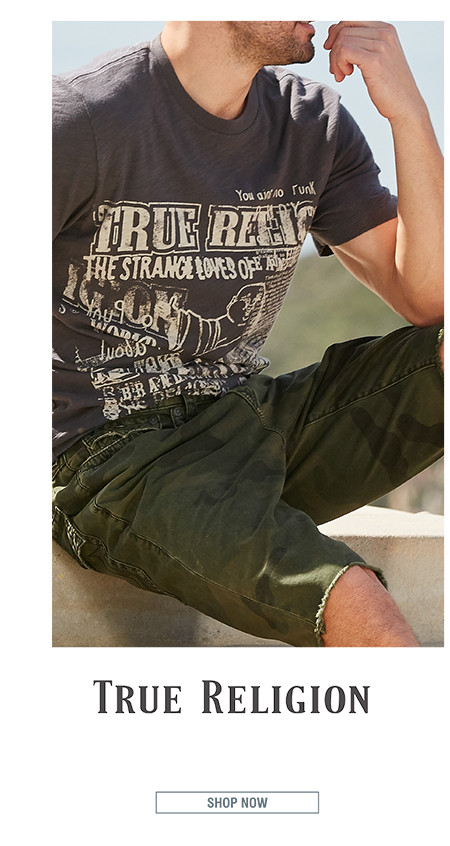 TRUE RELIGION | Trend-setting jeans and modern graphic tees give True Religion a cutting-edge L.A. vibe. | SHOP NOW