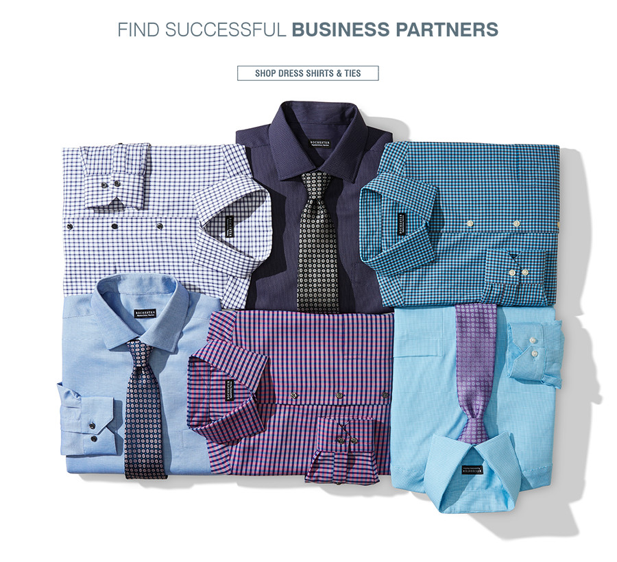 FIND SUCCESSFUL BUSINESS PARTNERS | Explore endless combinations of designer dress shirts and sophisticated ties. | SHOP DRESS SHIRTS & TIES