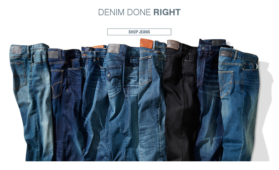 DENIM DONE RIGHT | Relaxed fit, athletic fit, your perfect fit...jeans in must-have washes by the designers you love. | SHOP JEANS