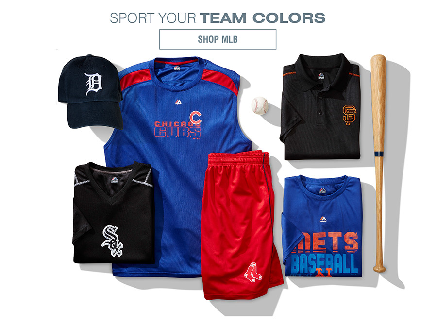 SPORT YOUR TEAM COLORS | SHOP MLB