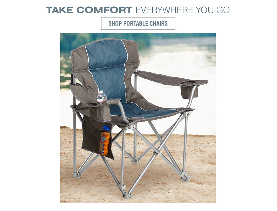TAKE COMFORT EVERYWHERE YOU GO | SHOP PORTABLE CHAIRS