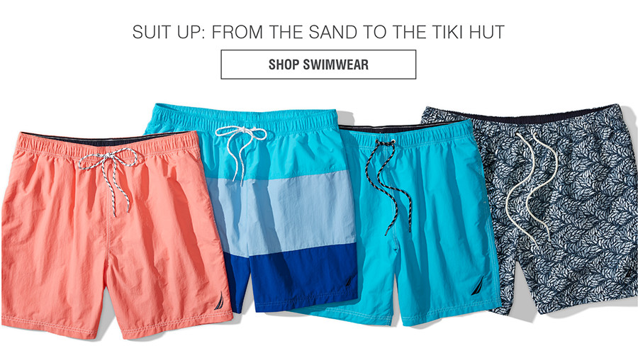 SUIT UP: FROM THE SAND TO THE TIKI HUT | SHOP SWIMWEAR