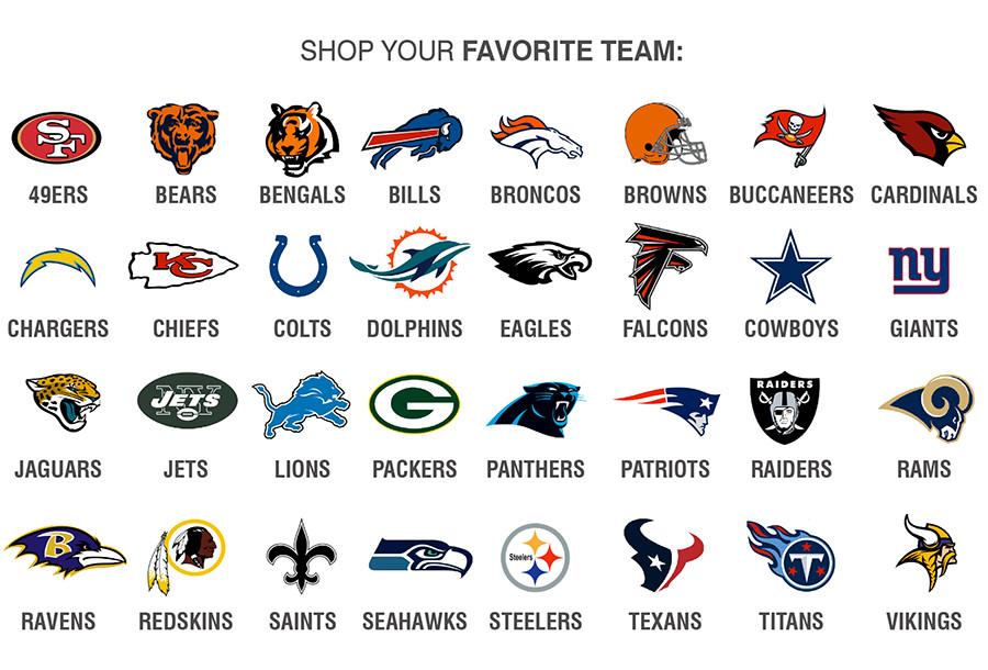 NFL | SHOP YOUR FAVORITE TEAM: