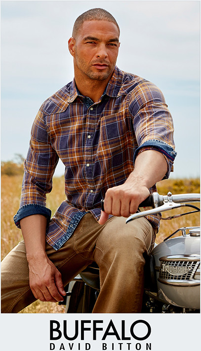BUFFALO DAVID BITTON | Rugged, yet refined, Buffalo's trend-right styles stand out from the herd.
