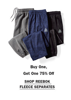 Shop Buy One Get One 75% Reebok Fleece Separates