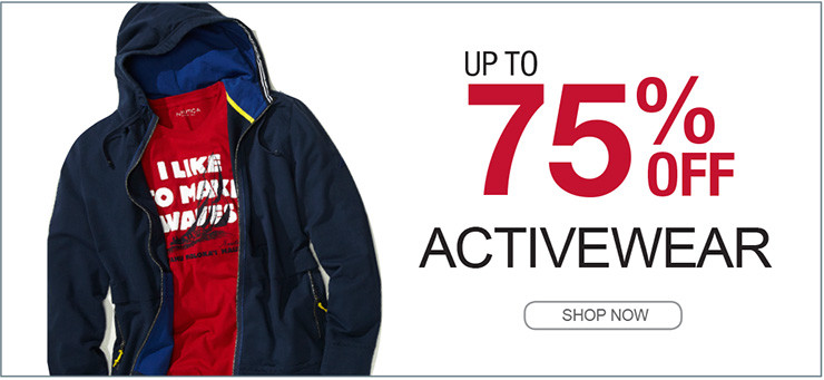 UP TO 75% OFF ACTIVEWEAR SHOP NOW
