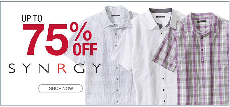 UP TO 75% OFF SYNRGY SHOP NOW