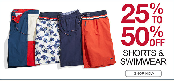 25% TO 50% OFF SHORTS AND SWIMWEAR SHOP NOW