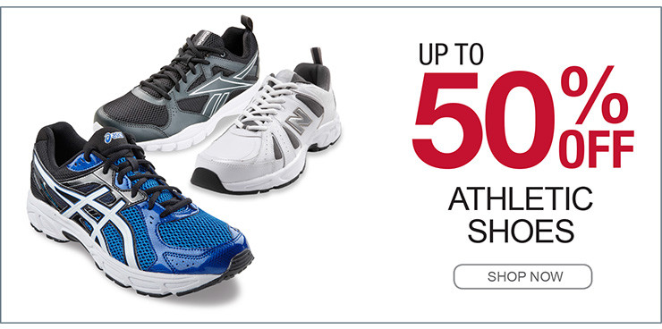 UP TO 50% OFF ATHLETIC SHOES SHOP NOW