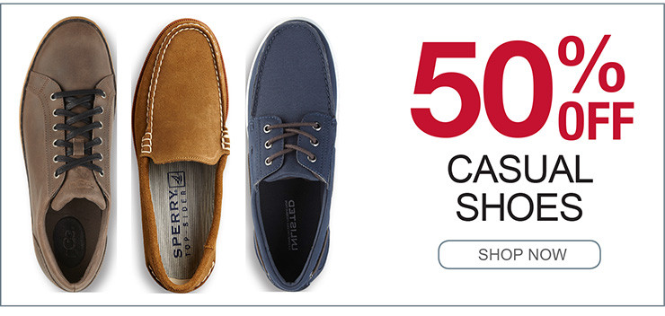 50% OFF CASUAL SHOES SHOP NOW