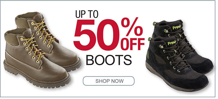 UP TO 50% OFF BOOTS SHOP NOW