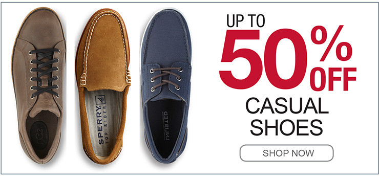 UP TO 50% OFF CASUAL SHOES SHOP NOW
