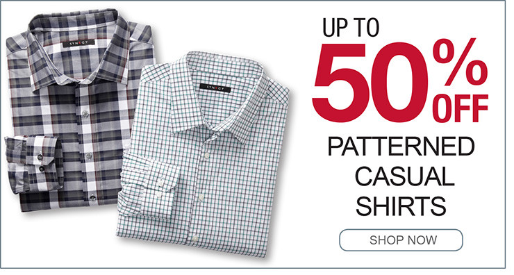 UP TO 50% OFF PATTEREND CASUAL SHIRTS SHOP NOW