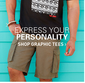 EXPRESS YOUR PERSONALITY | SHOP GRAPHIC TEES