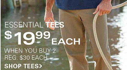 ESSENTIAL TEES | $19.99 EACH WHEN YOU BUY TWO OR MORE