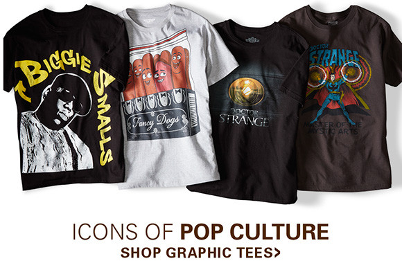 ICONS OF POP CULTURE | SHOP GRAHPIC TEES
