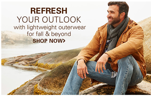 REFRESH YOUR OUTLOOK WITH LIGHTWEAGHT OUTERWEAR FOR FALL AND BEYOND