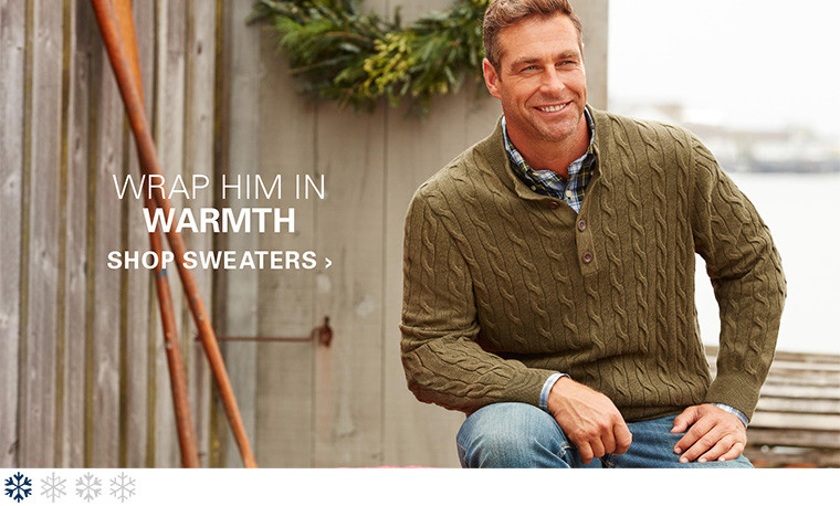 Give Warmth. Classic Sweaters are always in style. Shop Sweaters.