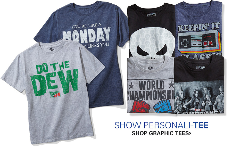 SHOW PERSONALI-TEE | SHOP GRAPHIC TEES
