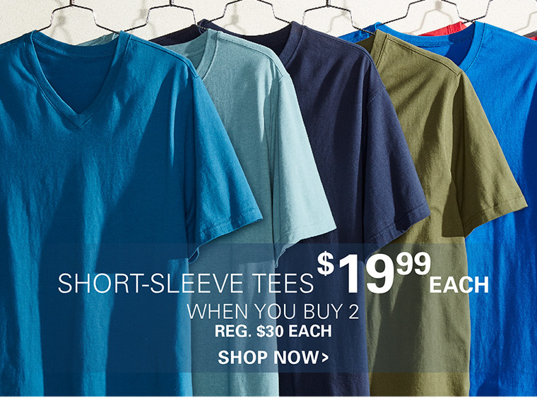 SHORT-SLEEEVE TEES | $19.99 EACH WHEN YOU BUY 2 OR MORE