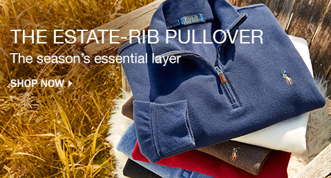 THE ESTATE-RIB PULLOVER | The season's essential layer | SHOP NOW