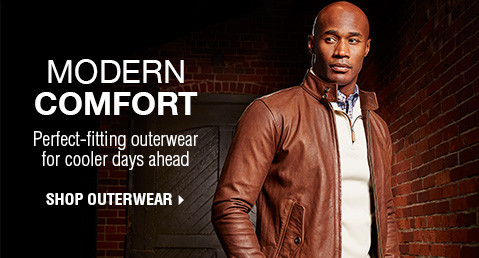 MODERN COMFORT | Perfect-fitting outerwear for cooler days ahead | SHOP OUTERWEAR