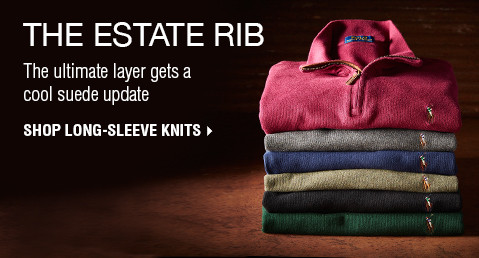 THE ESTATE RIB | The ultimate layer gets a cool suede update | SHOP LONG-SLEEVE KNITS