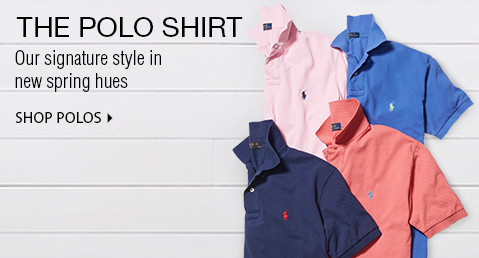 THE POLO SHIRT | Our signature style in new spring hues. | SHOP POLOS