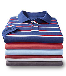 MIX & MATCH SHORT-SLEEVE PIQUE POLOS