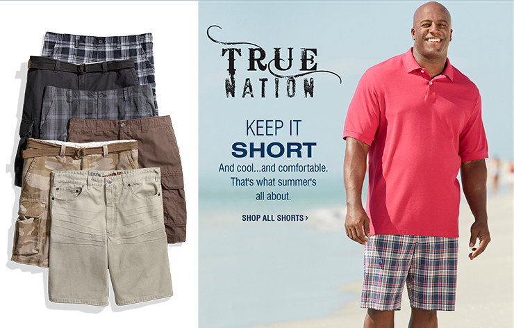 KEEP IT SHORT | And cool...and comfortable. That's what summer's all about. | SHOP ALL SHORTS