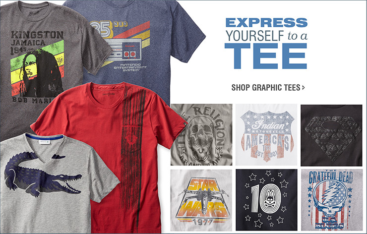 EXPRESS YOURSELF to a TEE | SHOP GRAPHIC TEES