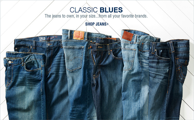 CLASSIC BLUES | The jeans to own, in your size...from all your favorite brands. | SHOP JEANS