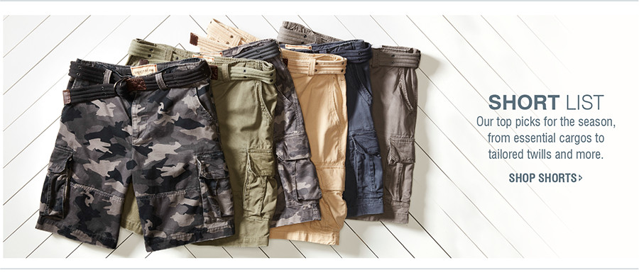 SHORT LIST | Our top picks for the season, from essential cargos to tailored twills and more. | SHOP SHORTS