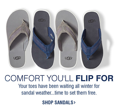 COMFORT YOU'LL FLIP FOR | Your toes have been waiting all winter for sandal weather...time to set them free. | SHOP SANDALS