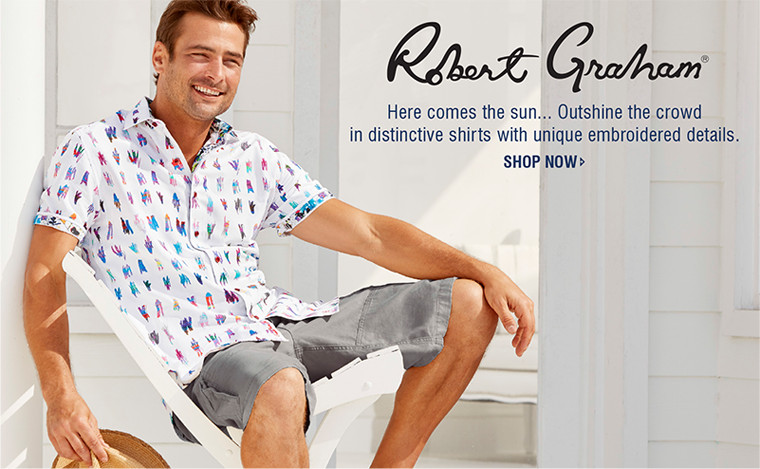 Robert Graham | Here comes the sun... Outshine the crowd in distinctive shirts with unique embroidered details. | SHOP NOW