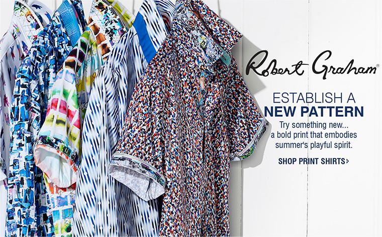 ESTABLISH A NEW PATTERN | Try something new...a bold print that embodies summer's playful spirit. | SHOP PRINT SHIRTS