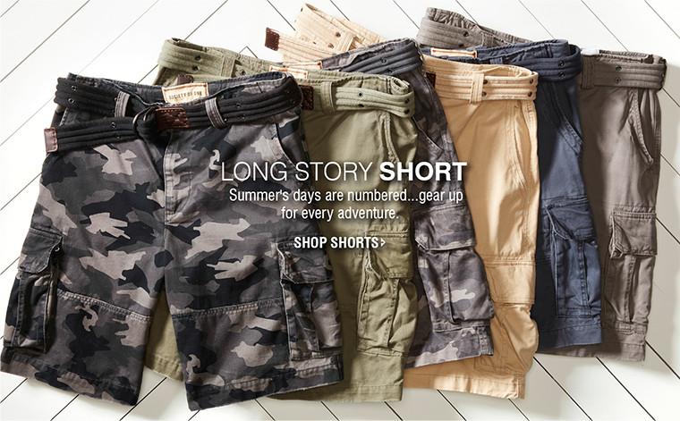 lONG story short | Summer's days are numbered...gear up for every adventure. | SHOP SHORTS