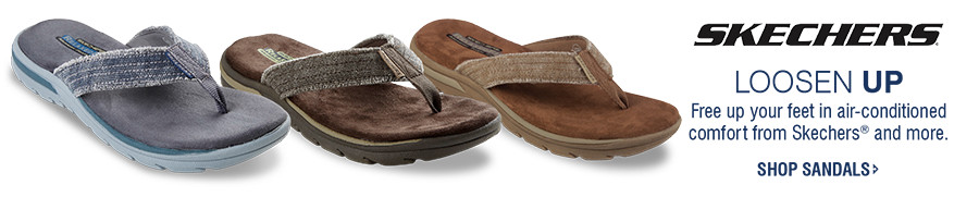 LOOSEN UP | Free up your feet in air-conditioned comfort from Skechers® and more. | SHOP SANDALS