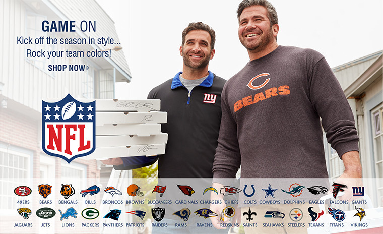 GAME ON   Kick off the season in style...Rock your team colors!