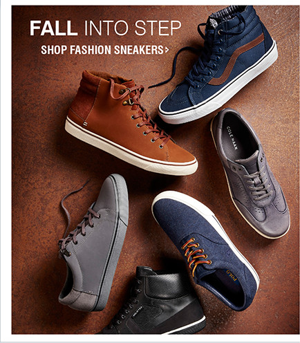 FALL INTO STEP   SHOP FASHION SNEAKERS