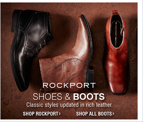 SHOES & BOOTS | Classic styles updated in rich leather.