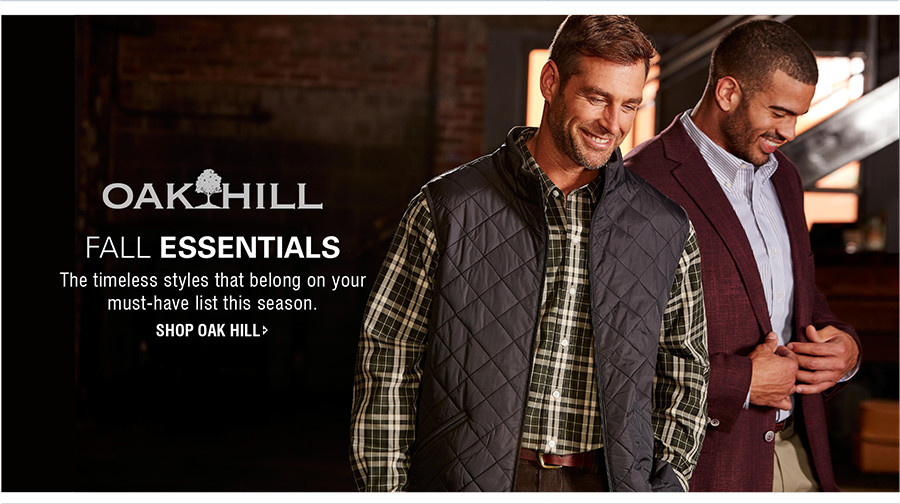 FALL ESSENTIALS | The timeless styles that belong on your must-have list this season. | SHOP OAK HILL